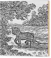 Ploughing, 19th Century Wood Print by Granger