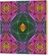 Polychromatic Arabesque Wood Print by Gregory Scott