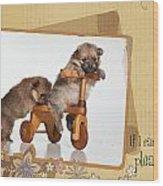 Pomeranian 1 Wood Print by Everet Regal