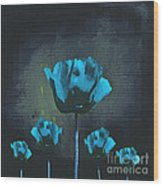 Poppies Fun 01 - Bb Wood Print by Variance Collections