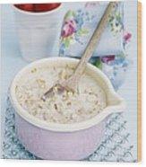 Porridge In A Pan Wood Print by Veronique Leplat