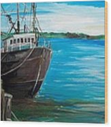 Portland Harbor - Home Again Wood Print by Scott Nelson