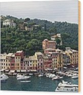 Portofino Dreaming Wood Print by Marilyn Dunlap