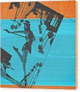 Post Card From La Wood Print by Naxart Studio
