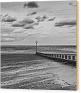 Potobello Beach And Drifting Sands Wood Print by John Farnan