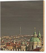 Prague - A Symphony In Stone Wood Print by Christine Till