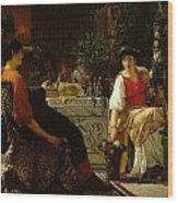 Preparations For The Festivities Wood Print by Sir Lawrence Alma-Tadema