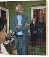 President And First Lady Michelle Obama Wood Print by Everett