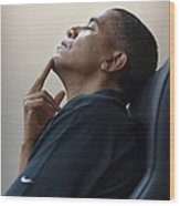 President Barack Obama Wood Print by Everett
