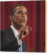 President Barack Obama Making Wood Print by Everett