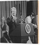 President Jimmy Carter Taking Wood Print by Everett