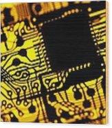 Printed Circuit Board, Artwork Wood Print by Pasieka