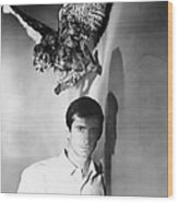 Psycho, Anthony Perkins, 1960 Wood Print by Everett
