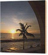 Puerto Rican Sunset I Wood Print by Tim Fitzwater