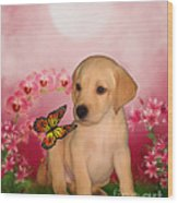 Puppy Innocence Wood Print by Smilin Eyes  Treasures
