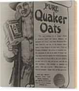 Pure Quaker Oates Wood Print by Bill Cannon