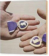 Purple Heart Recipients Display Wood Print by Stocktrek Images