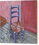 Purple Vincent Wood Print by JW DeBrock