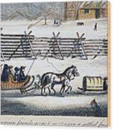 Quakers Wood Print by Granger
