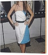 Rachel Bilson Wearing An Abaete Dress Wood Print by Everett