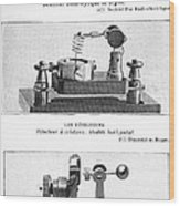 Radio Receiver Components, 1914 Wood Print by
