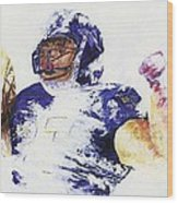 Ray Rice Wood Print by Ash Hussein