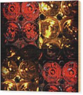 Red And White Wine Collage Wood Print by Joan  Minchak