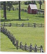 Red Barn On Highway 160 Near Pagosa Wood Print by Rich Reid