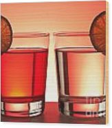 Red Drinks Wood Print by Blink Images