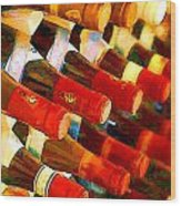 Red Or White Wood Print by Elaine Plesser