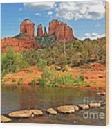 Red Rock Crossing Wood Print by Clare VanderVeen