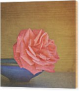 Red Rose Wood Print by Photo - Lyn Randle