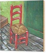 Red Vincent Wood Print by JW DeBrock