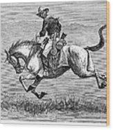 Remington: 10th Cavalry Wood Print by Granger