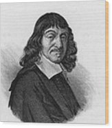 Rene Descartes, French Polymath Wood Print by Science Source