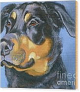 Rescue In Blue Wood Print by Susan A Becker