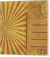 Retro Grunge Ray Postcard Wood Print by Setsiri Silapasuwanchai