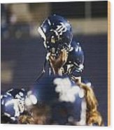 Rice Football Helmets  Wood Print by Anthony Vasser
