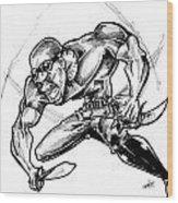 Riddick Wood Print by Big Mike Roate