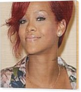 Rihanna At Arrivals For Rhianna  Book Wood Print by Everett