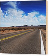 Road Through Rural Area Wood Print by Jacobs Stock Photography