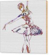 Robot Diva Wood Print by Steve K