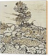 Rocky Ground At Montmajour Wood Print by Vincent van Gogh
