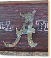 Roll Tide - Medium Wood Print by Racquel Morgan