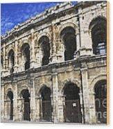 Roman Arena In Nimes France Wood Print by Elena Elisseeva