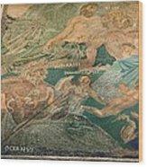 Roman Cosmological Mosaic Wood Print by Sheila Terry