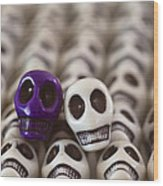 Royal Purple And White Wood Print by Mike Herdering