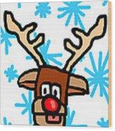 Rudolph's Portrait Wood Print by Jera Sky
