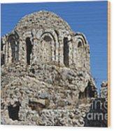 Ruins Of Byzantine Basilica Alanya Castle Turkey Wood Print by Matthias Hauser