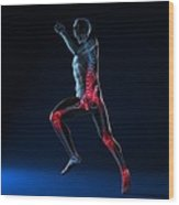 Running Injuries, Conceptual Artwork Wood Print by Sciepro